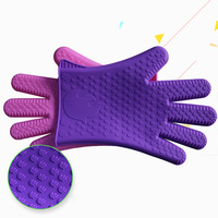 Finger Protector Microwave Use Silicone Grill Gloves For Kitchenware