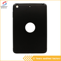 Detachable tpu and pc high quality shockproof black case for ipad mini 2