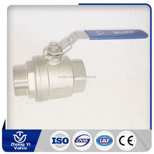 2 pc floating stainless steel ball valve cf8