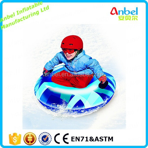 2017 Anbel Safety Outdoor Winter Inflatable Single Round Snow Tube Sled