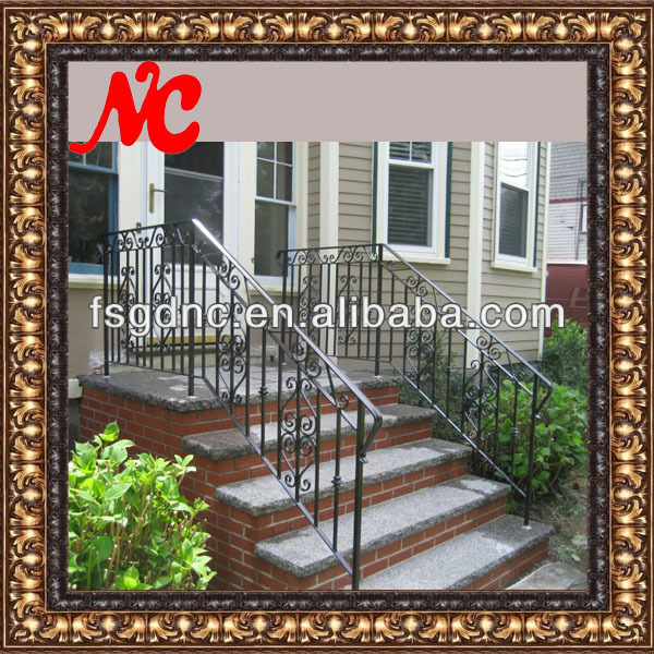 Wrought iron stairs railing