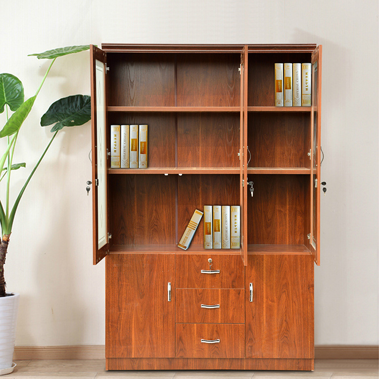 Wholesale high quality and cheap tall wooden bookcase