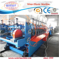 wood plastic composite wpc skinning crust foamed board manufacturing production line