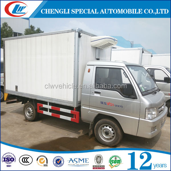 4x2 Mini 1tons freezer cargo van freezer box truck freezer cold truck for sale
