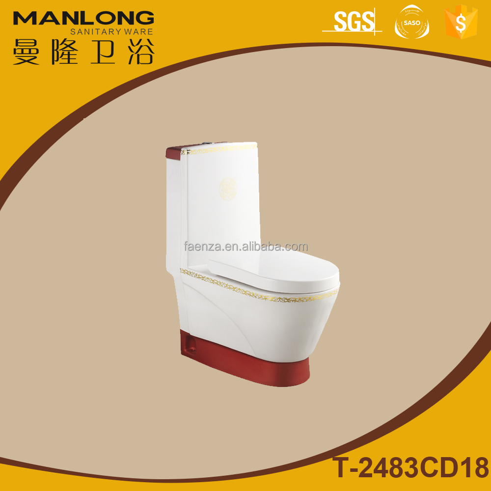 Toilet red color washdown bathrooms designs