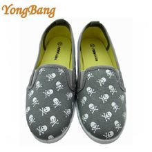 unisex skull canvas manila fashion skull shoes
