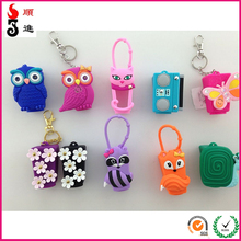 New design animal shaped hand sanitizer silicone bottle case with low price