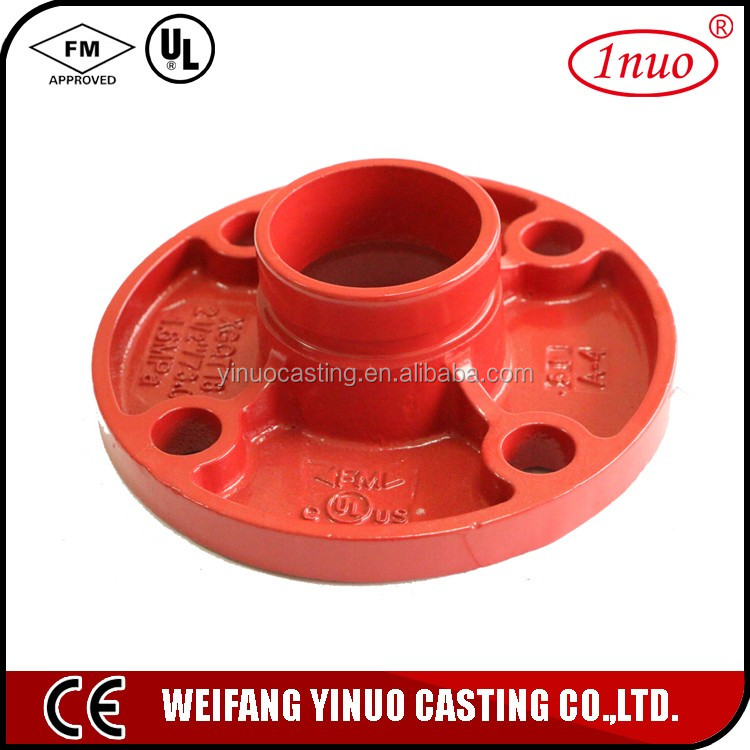 FM/ UL certificated casting iron flange adaptor