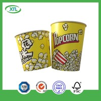 Disposable paper popcorn bucket supplier