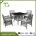 5pcs modern hot sale outdoor dining table chair set rattan wicker chair set