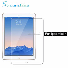 0.3mm 9H ultra clear tempered glass screen protector for ipad mini 4