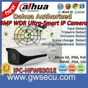 new product dahua face detection ip camera ipc hfw8301e