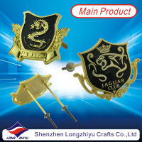 2013 hot PVC 3d sticker luxury car emblem custom metal lapel