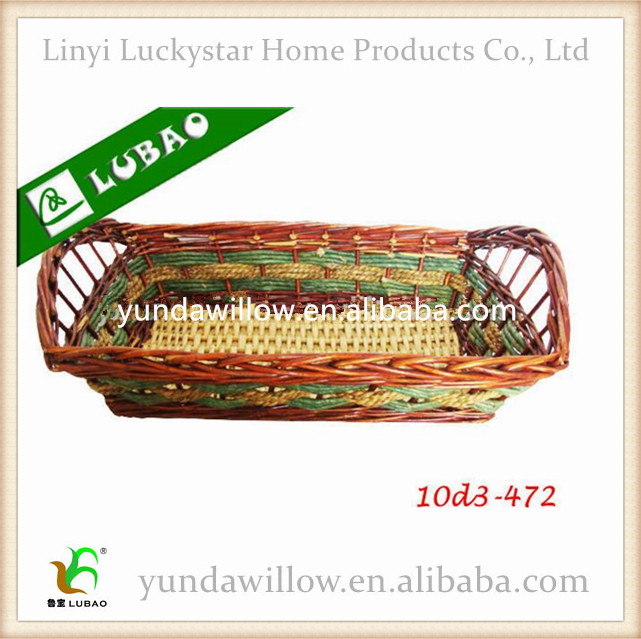 Fancy Straw Wicker Gift Basket Empty For Handicrafts Making
