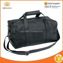 Black Overnight Carry On Duffle Duffel Bag Bags Leatherette Travel Sports Gym Luggage