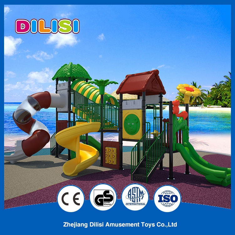 New Children Plastic Outdoor Playground Equipment Amusement Park Toys, Outside Plastic Playground Slide