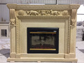 Wholesale Natural Beige Cultured insert Marble Fireplace