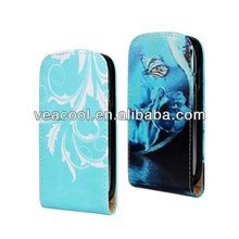 Flower Flip Leather Case for Samsung Galaxy S3 mini i8190 case