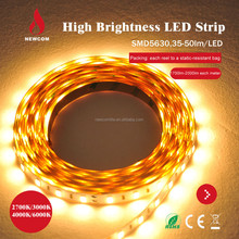 High Lumen 60leds/m LED Strip SMD5630 warm white with ce rohs certificated