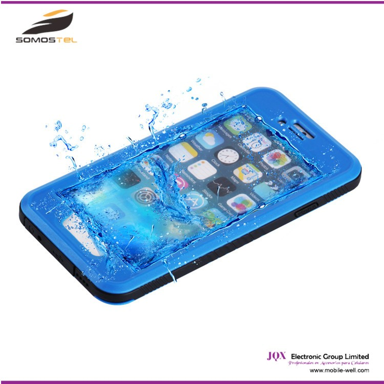 [Somostel] Plastic Hard PVC Cell phone Shockproof Smartphone Universal Waterproof Phone Case for iphone 5 6 6S waterproof cover
