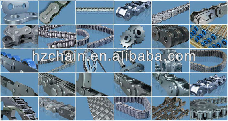 M series conveyor chains with A2 attachments