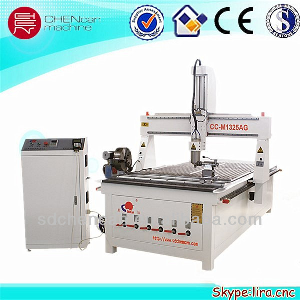 cylindrical wood and foam working CNC Router Machine