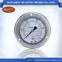 Stainless steel wutt oil marine thermometer sillicon oil-filled pressure digital Gas Manometer