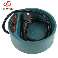 New heated pet bowl feeder , warm-water thermal bowl with led lights