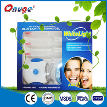 lamp light teeth whitening strip kit with impression tray
