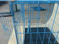cheap folding power coated steel carry canary bird cages (factory)