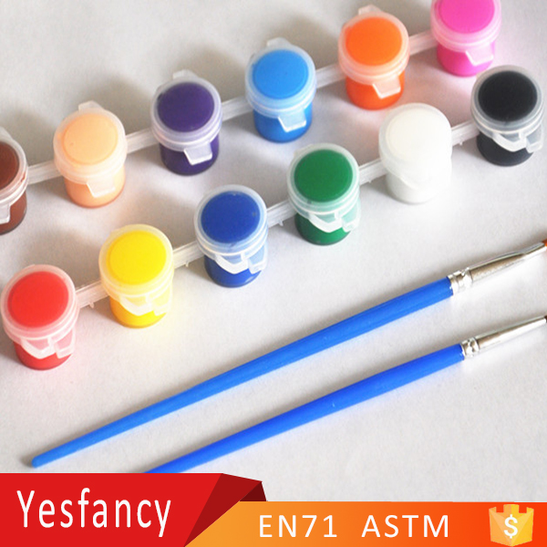 free samples 6 strip non toxic acrylic color paint 3ml eco friendly acrylic paint nail art
