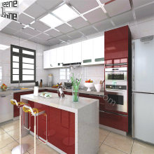 High gloss modern kitchen modular furniture designs cheap kitchen cabinet