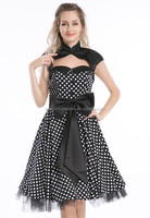 VINTAGE 1950'S ROCKABILLY STYLE SWING PINUP WRAP EVENING PARTY DRESS