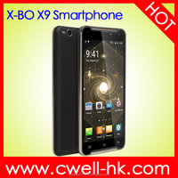 "New arrival MTK6580 Quad core X-BO X9 6"" IPS big screen dual sim mobile phones"