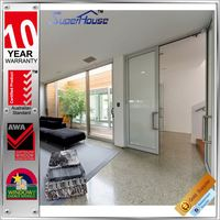 Luxury soundproof hinge office doors glass inserts