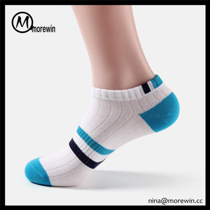 Morewin brand high quality custom sports socks men cotton colored ankle socks