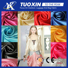 100% polyester woven colorful stretch satin for garment lining fabric/silk satin textile fabric