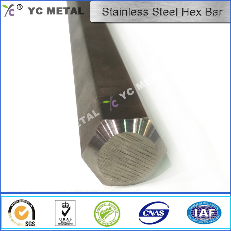 ASTM A276Stainless Steel Bar S20100 Matte Finish Hex Bar -YC Metal