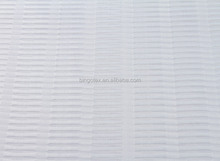 Wholesale white strip-type organza fabric for women garment