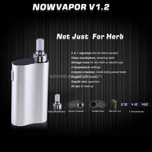 Best dry herb vaporizer 3 temperatures adjustable Now Vapor V1.2 heavy smoke electronic cigarette