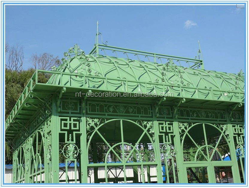 iron gazebo/outdoor iron gazebo NTIG-003