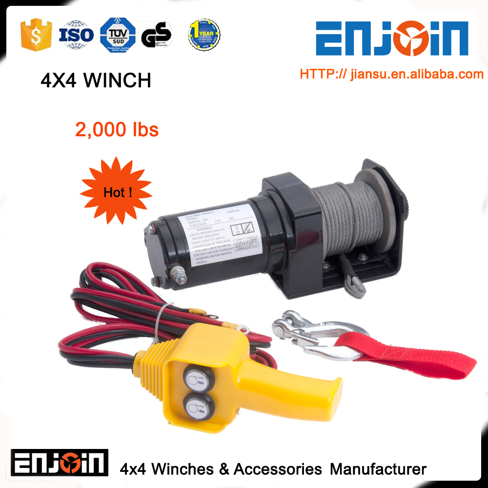 2000lbs 12v atv/utv electric winch