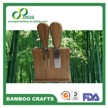 Natural bamboo cheese cutting 4 tools sell in Amazon
