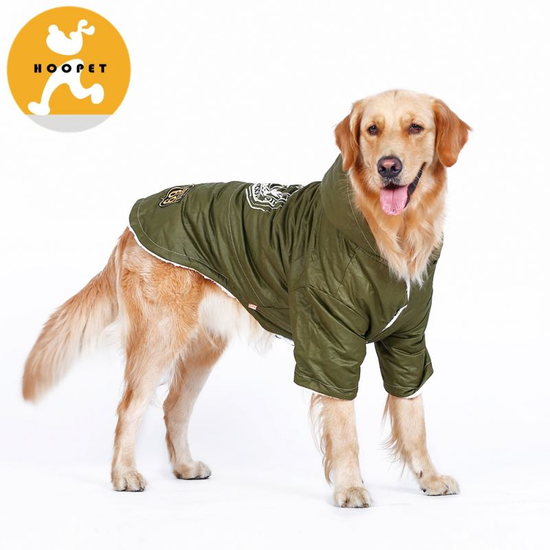 Army green winter large dog jackets outdoor warm coat supplies