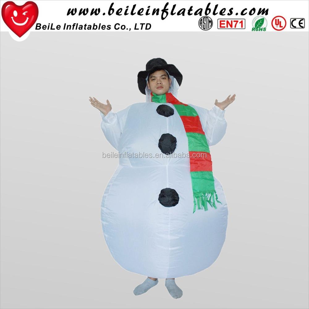 Navidad en movimiento inflable Santa Claus padre Navidad traje de la ...