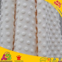 2016 Hot Sale SGS Checked eco Friendly White Baby Blanket Minky Dot
