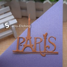 Fancy Eiffel Tower with Paris cutting die for vacation cards