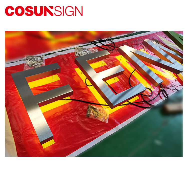 COSUN Chain Shop LED Backlit letter sign Light up shop name at night