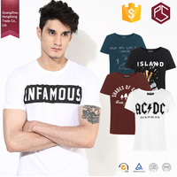 Guangzhou Customized O Neck Short Sleeve Fitness character Cotton white Man Custom Printed t-shirt