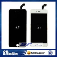 AAA Grade OEM full black / white front LCD display touch screen digitizer assembly for iPhone 4 4S 5 5s 6